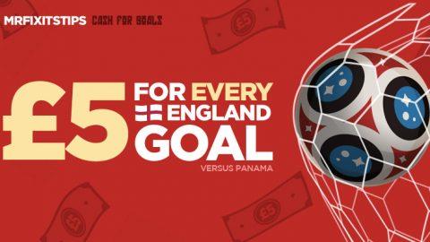Cash For Goals: Get £5 For EVERY England Goal v Panama