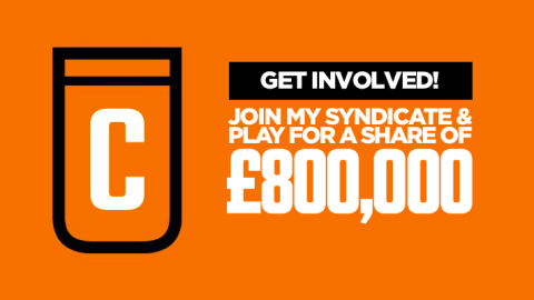 Play for a share of £800,000 in my Golden Ticket Syndicate