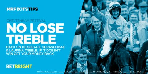 EXCLUSIVE Offer: Get a £10 NO-LOSE Bet on my 25-1 Cheltenham Treble