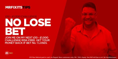 Have a  £10 Risk-Free shot at today's £10 – £1,000 Challenge