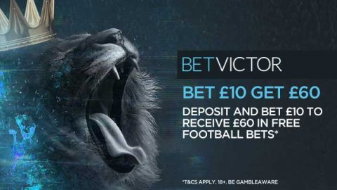 BetVictor's Kickstarter – Get a £10 Free Bet on ALL 3pm Premier League Matches
