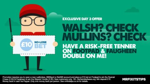 EXCLUSIVE Offer: Get a £10 NO-LOSE Bet on Walsh/Mullins Double