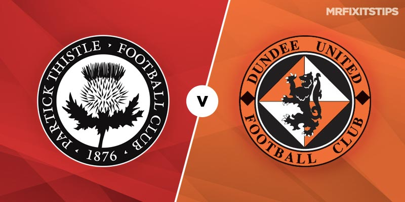 Partick Thistle vs Dundee United Betting Tips & Preview
