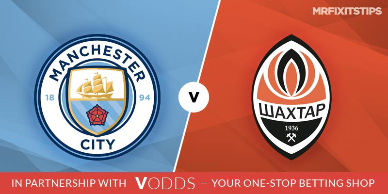 Manchester City vs Shakhtar Donetsk Betting Tips and Predictions