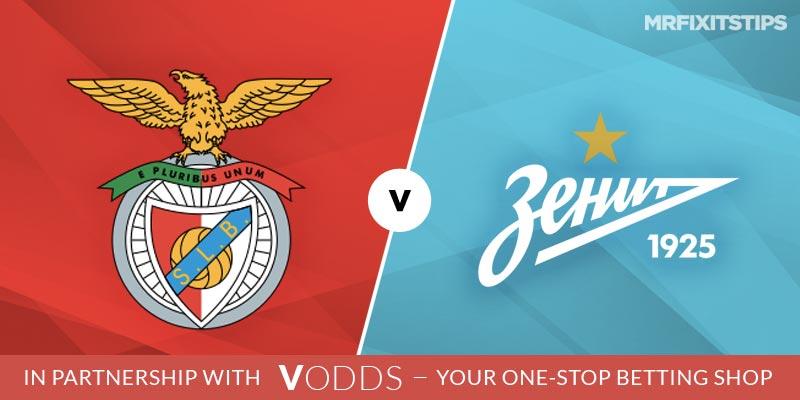 Benfica vs Zenit St Petersburg Betting Tips and Predictions