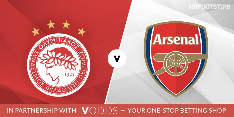 Olympiakos vs Arsenal Betting Tips and Predictions
