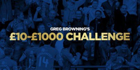 Greg's £10-£1,000 Challenge – Bet 2