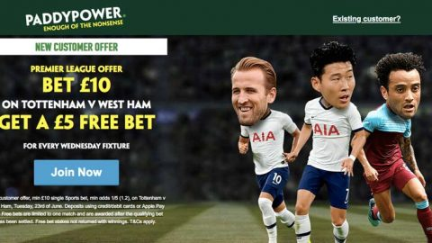 Premier League: Bet £10 on Spurs v West Ham Get a £5 Free Bet for Every Wednesday Fixture