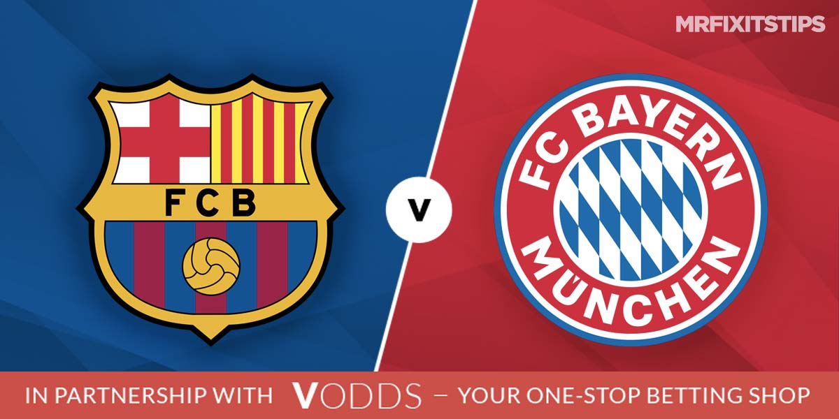 Barcelona vs Bayern Munich Prediction and Betting Tips