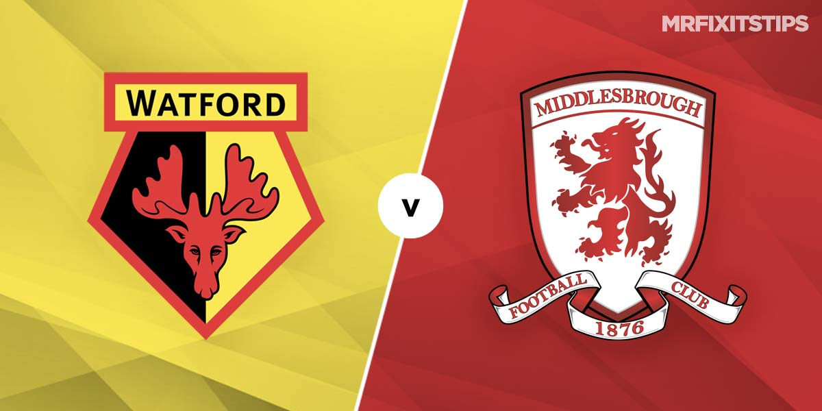 Watford vs Middlesbrough Prediction and Betting Tips