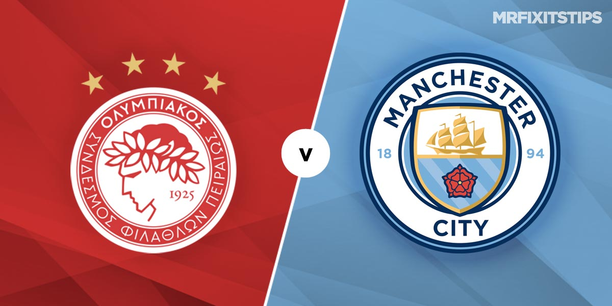 Olympiakos vs Manchester City Prediction and Betting Tips