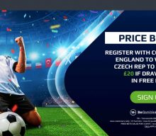 Betting Offer: Odds Boost – England 30/1 v Czech Republic 50/1