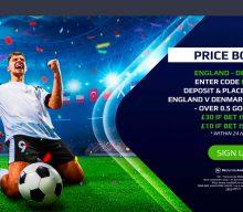 Betting Offer: Get 30/1 For A Goal To Be Scored in England v Denmark